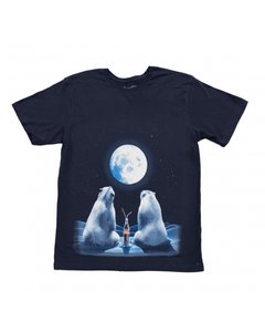 Coca-Cola Full Moon Polar Bear Youth Tee