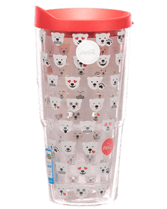 Coca-Cola Polar Bear Emoji Clear Tervis Tumbler - 24oz