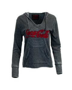 Coca-Cola Women's Pullover V-Neck Hoodie