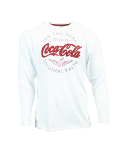 Coca-Cola Script Wings Men's LS Tee