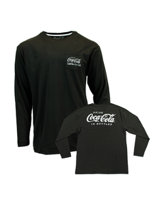 Coca-Cola Script Pocket Men's LS Tee