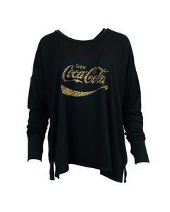 Coca-Cola Women's Gold Stone LS Tee