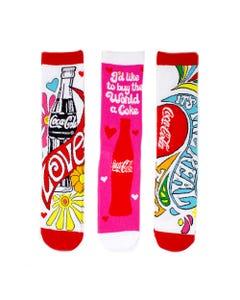 Coca-Cola Hilltop Women's Socks - 3PK