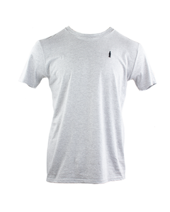 Bottle Embroidered Tee-Heather Grey-S