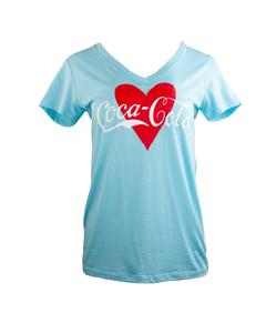 Coca-Cola Women's Heart Script Tee