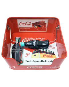 Coca-Cola Napkin Holder w/Bottle Weight