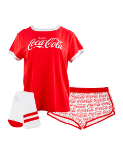 Coca-Cola Women's Script 3PC PJ Set