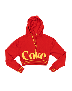 Coca-Cola Mad Engine Women's Crop Drawstring Hoodie