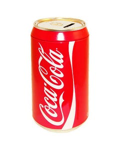 """Coca-Cola Can Coin Bank - 8"""""""